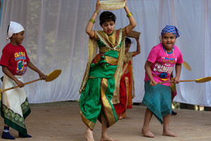 Junior pupils of St Mary's Convent - Shanti Sadan School dance for the visit