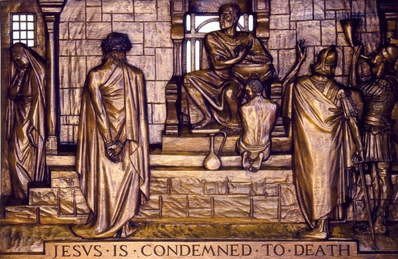 The First Station: Jesus is condemned to death