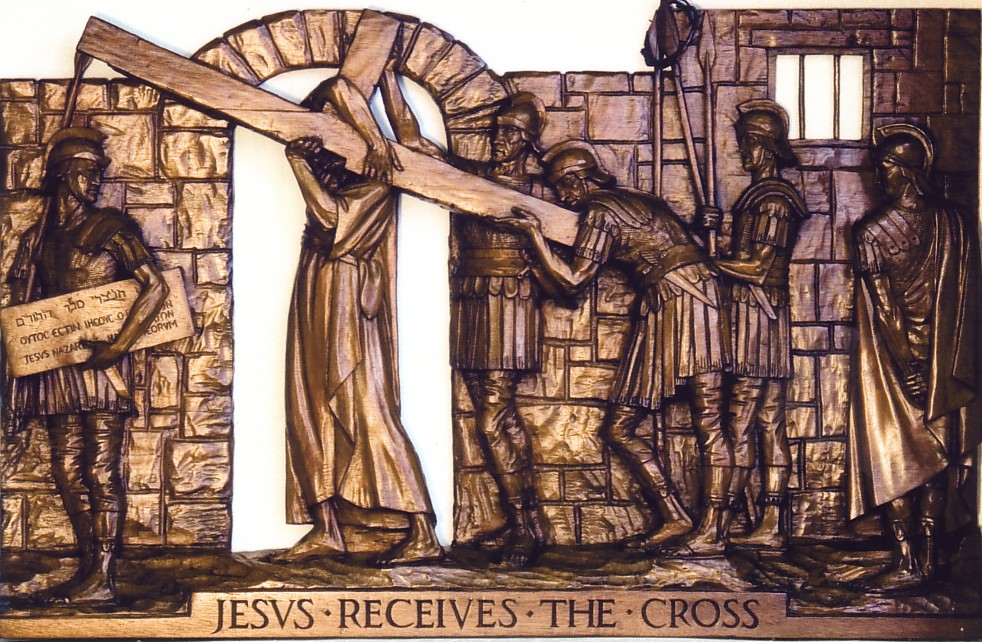 The Second Station: Jesus receives the cross