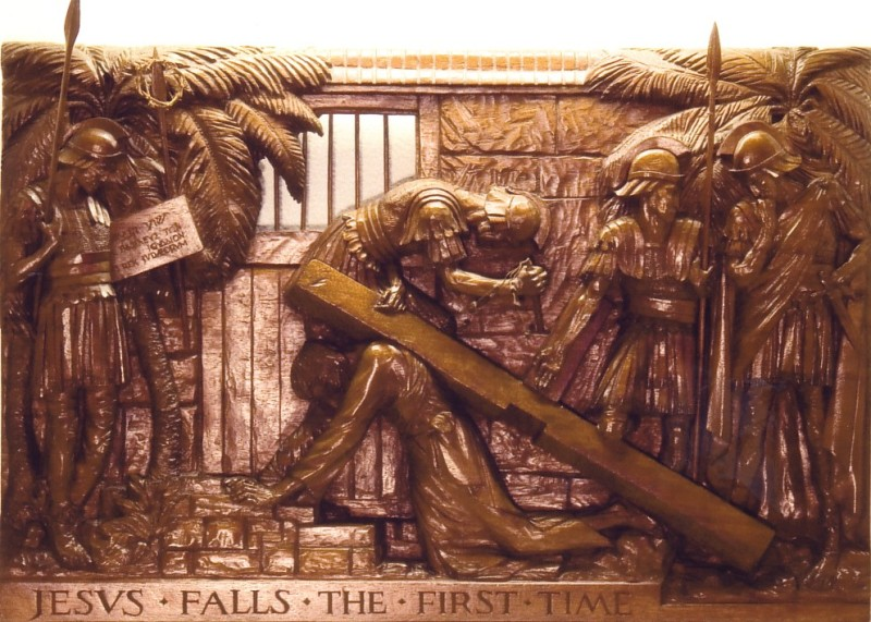 The Third Station: Jesus falls the first time