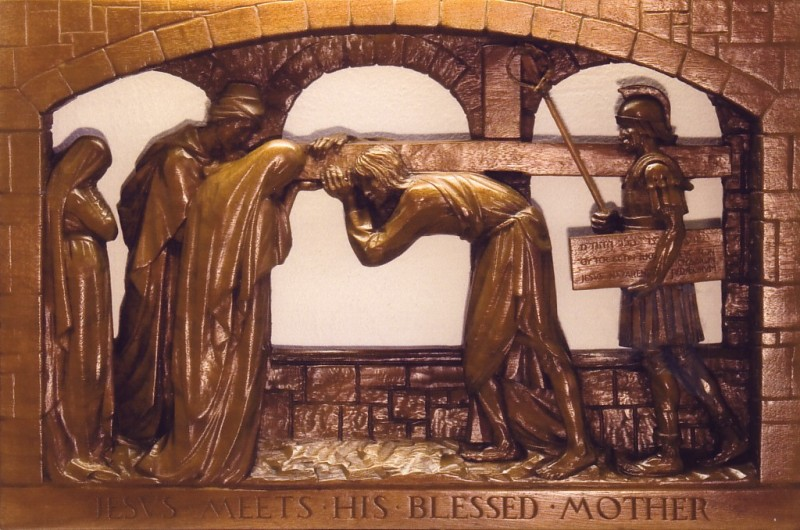 The Fourth Station: Jesus meets his blessed Mother