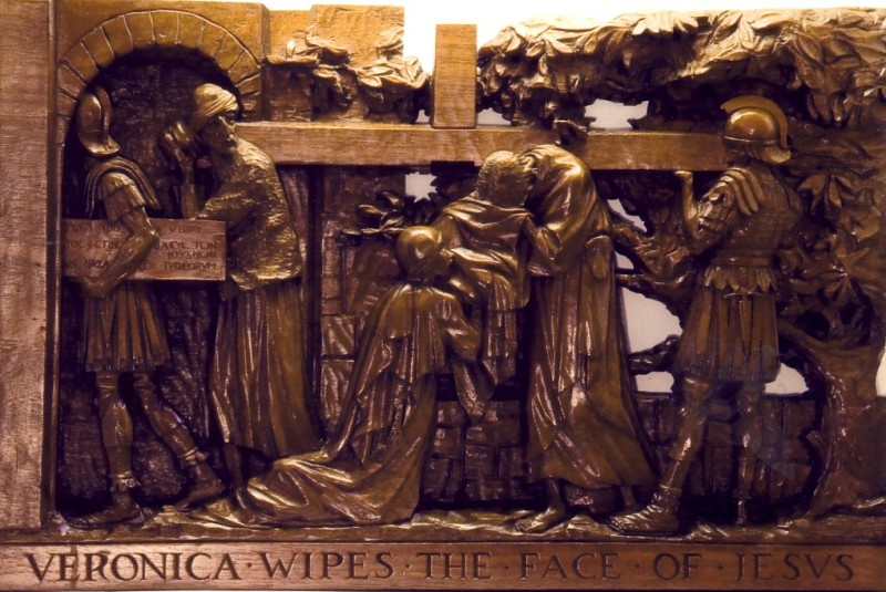 The Sixth Station: Veronica wipes the face of Jesus