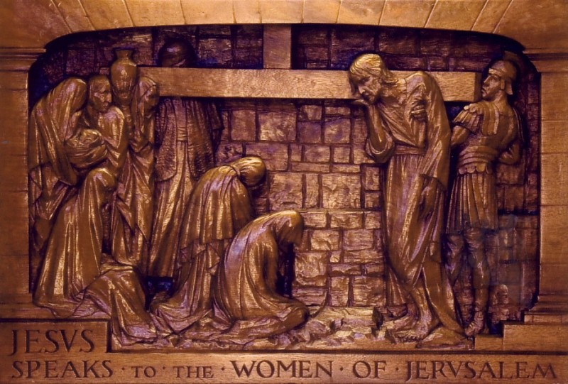 The Eighth Station: Jesus speaks to the women of Jerusalem