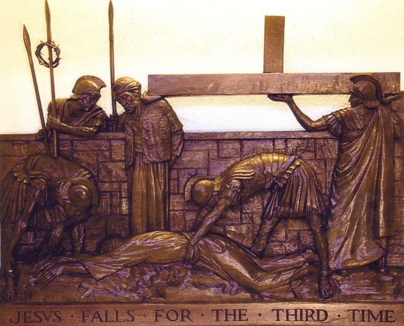 The Ninth Station: Jesus falls for the third time